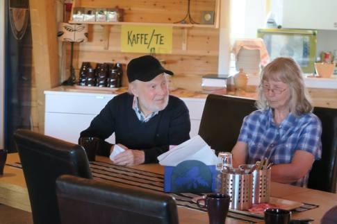 Bengt Granberg med fru Rita hos Alf Andersson iTomtemagasinet